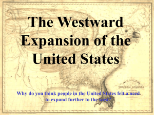 Manifest destiny idea that the United States was ordained to expand