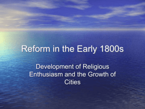 Reform in the Early 1800s
