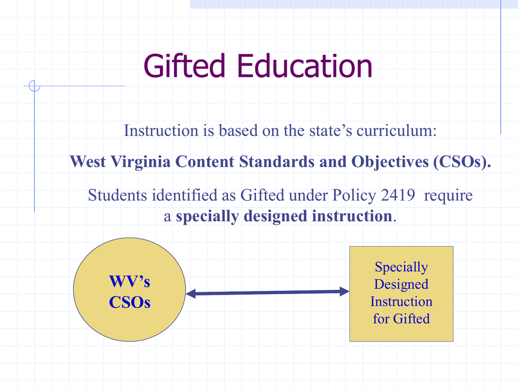 Differentiated Instruction West Virginia Department Of Education