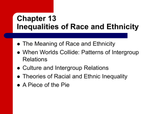 Chapter 13 Inequalities of Race and Ethnicity