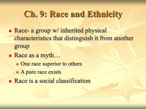Ch. 12: Race and Ethnicity