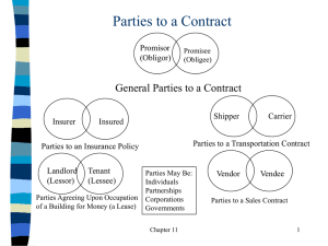Parties to a Contract