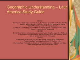Latin America Geography Study Guide