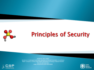 Principles of Security - CSP