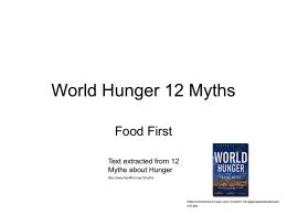 hunger myths