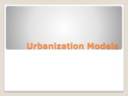 Urbanization Models
