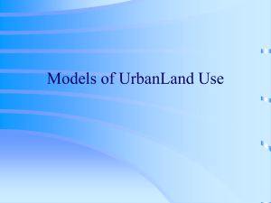 Models of Urban Land Use (North America, Europe, Latin America