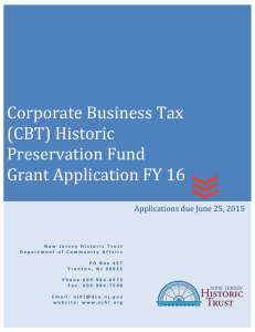 Grant Application FY16 - New Jersey Historic Trust