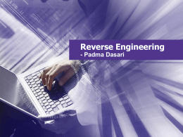 Reverse Engineering - Winona State University