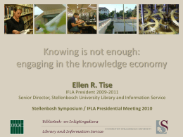 Knowing is not enough: engaging in the knowledge economy