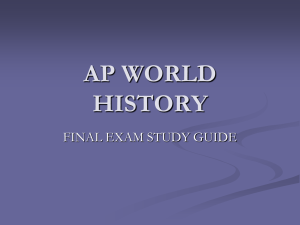 ap world history - Fort Thomas Independent Schools