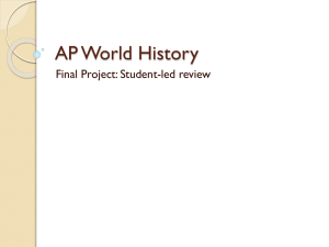 AP World History - Bibb County Schools