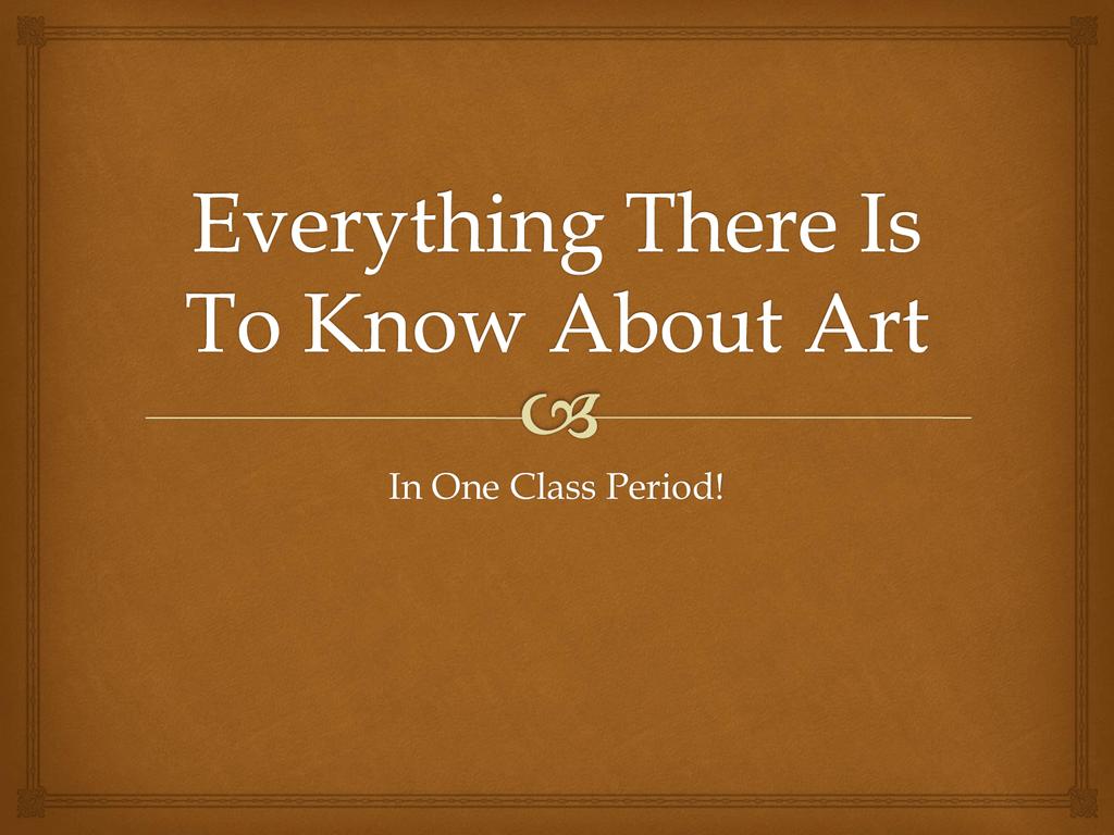 PowerPoint - History Of Western Art