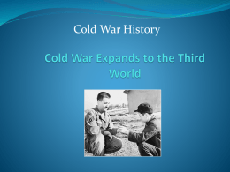 Cold War Expands to the Third World