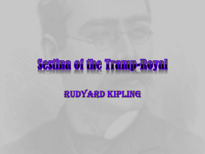 Sestina of a Tramp-Royal