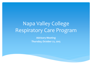 Fall 2015 Powerpoint - Napa Valley College