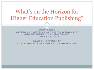 What's on the Horizon for Higher Education Publishing?