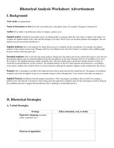 Rhetorical Analysis Worksheet