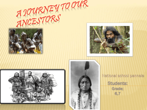 A jorney to our ancestors - Schools Online