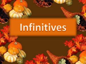 What are infinitive phrases?