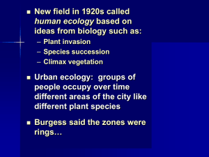 Ch. 8 Ecology, Capitalism, and Expanding Scope of Urb Analysis