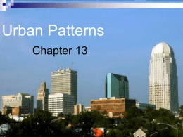 Chapter 13: Urban Patterns