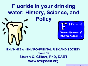 Fluoride risk assessment
