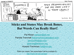 Sticks and Stones May Break Bones, But Words Can Really Hurt!