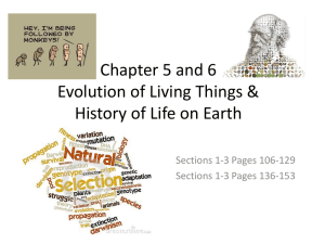 File chapter 5 and 6 evolution of living things sections 1