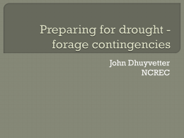 Preparing for drought forage contingencies