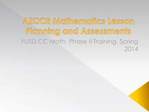 FUSD CC Math Phase II Training, Spring 2014