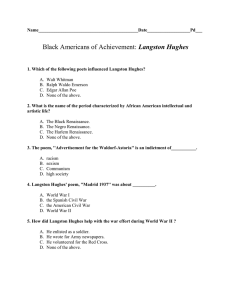 Langston Hughes Video Quiz
