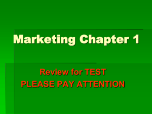 Marketing Chapter 1