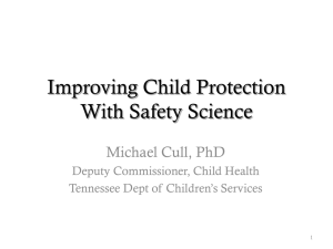 Creating a Culture of Safety in Child Welfare
