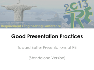 RE'13 Good Presentation Practices Guide