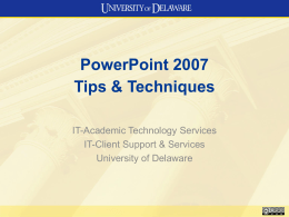 PowerPoint starter file - University of Delaware