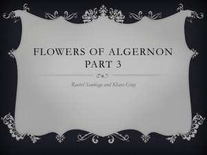 Flowers of algernon part 3