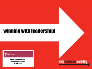 Andy Hanselman – Winning with leadership