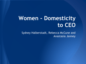 Women - Domesticity to CEO