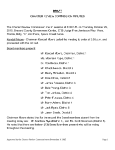 October 29, 2015 Charter Review Commission