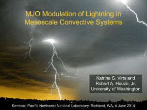 MJO Modulation of Lightning in Mesoscale Convective Systems