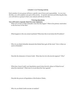 Schindler's List Summary - eNotes.com