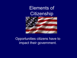 Elements of Citizenship