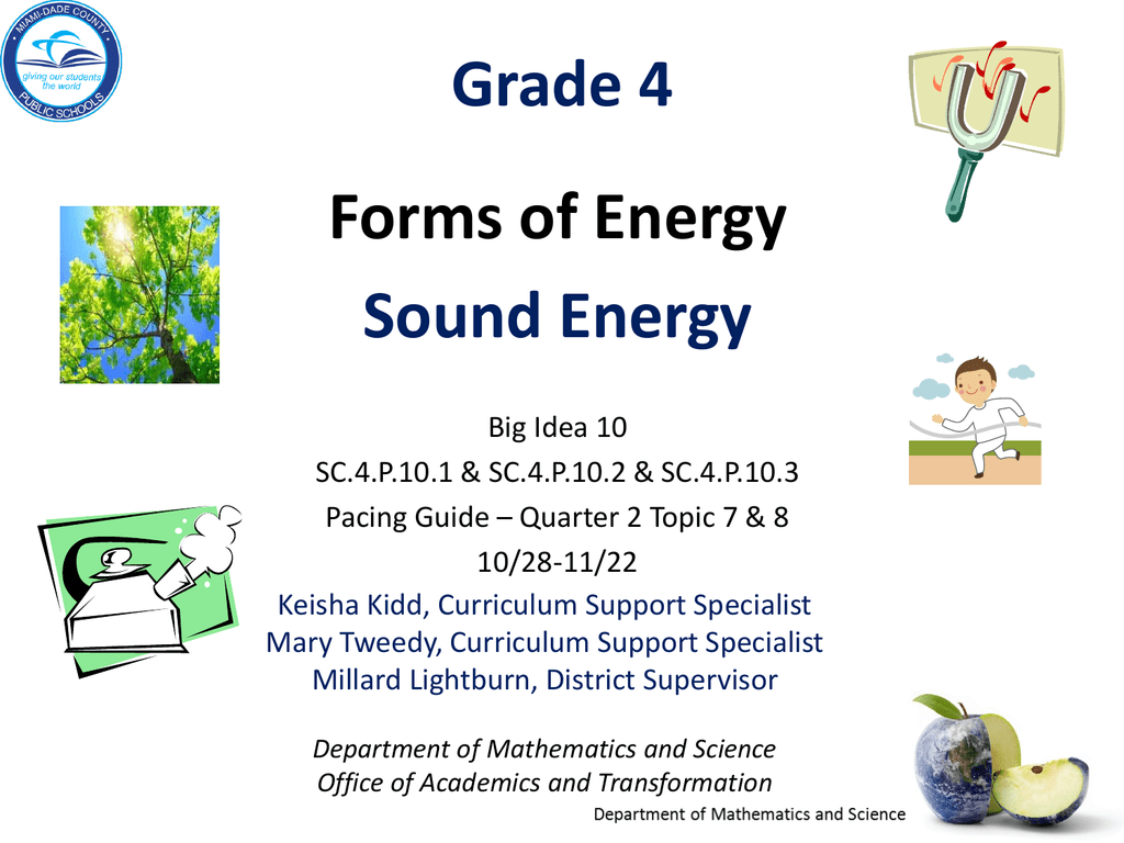 Big Idea Gr  5 Forms of Energy - Sound