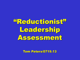 """Reductionist"" Leadership PPT"