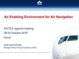 IATA - An Enabling Environment for Air Navigation