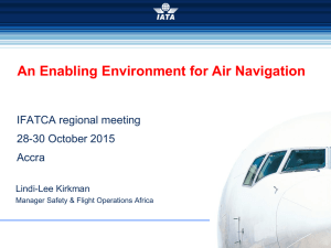 IATA - An Enabling Environment for Air Navigation