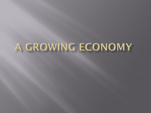 A Growing Economy The Rise of New Industries