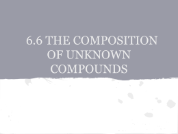 6.6 THE COMPOSITION OF UNKNOWN COMPOUNDS