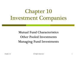 Lecture Presentation to accompany Contemporary Investments